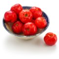 acerola fruit, barbados cherry isolated