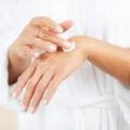 Applying Hand Cream Closeup